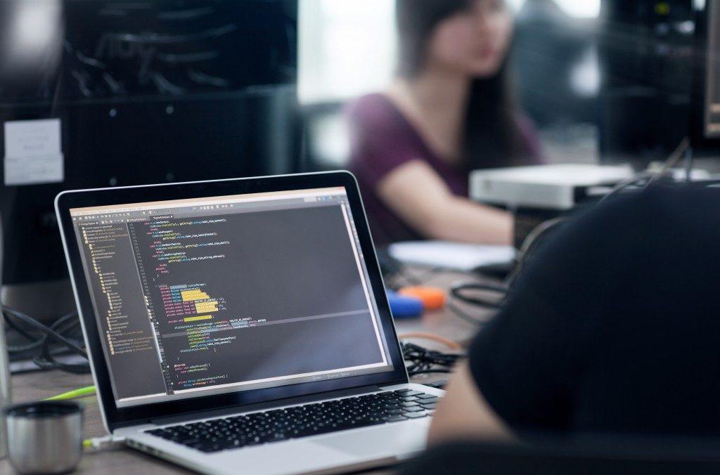 programming code in a laptop screen