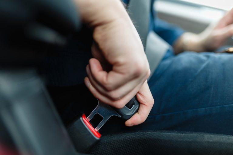 buckling seatbelt