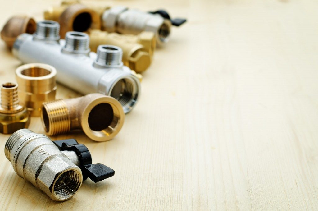 valves on table