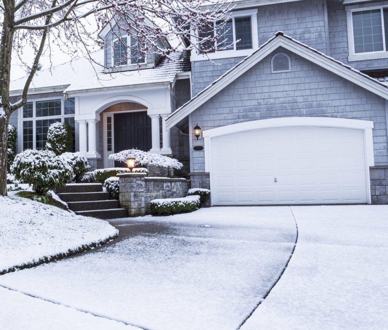 garage in winter