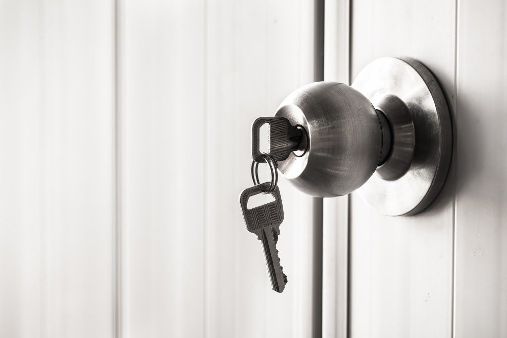 home key on the doorknob