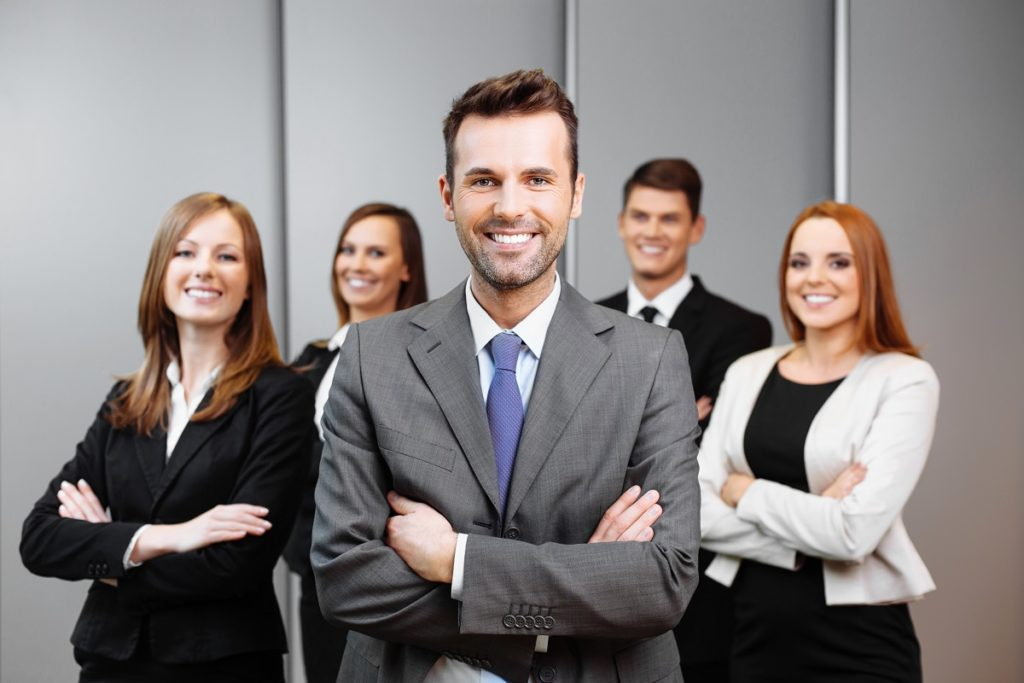 businessman with coworkers